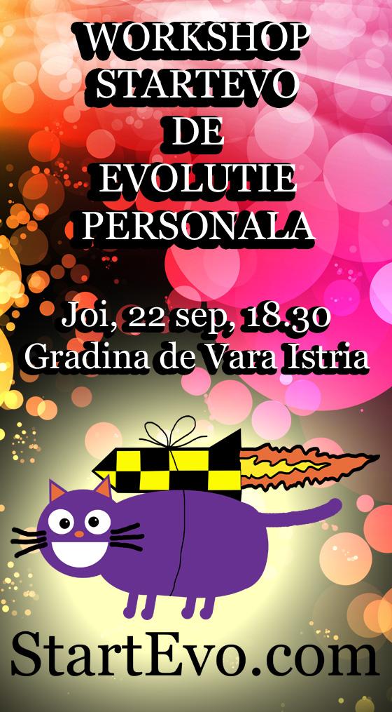 Workshop StartEvo de Evolutie Personala